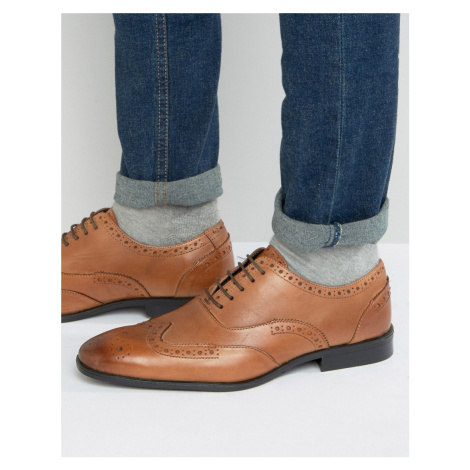 Silver Street Oxford Brogues In Tan Leather