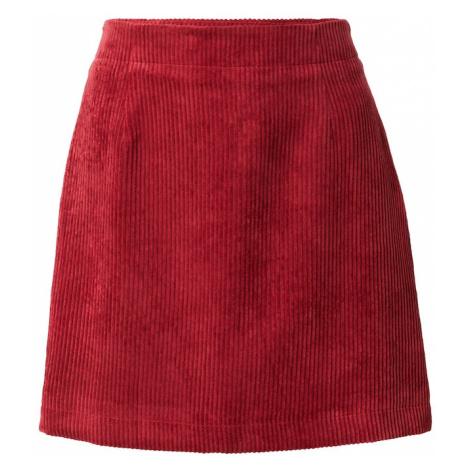 ONLY Spódnica 'TERRY' czerwono fioletowy