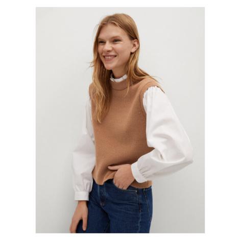 Mango Sweter Leonor 87004020 Brązowy Regular Fit