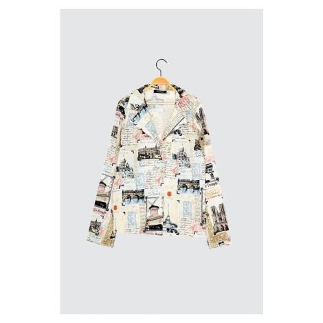Modsolo Wielokolorowa koszula z nadrukiem Trendyol