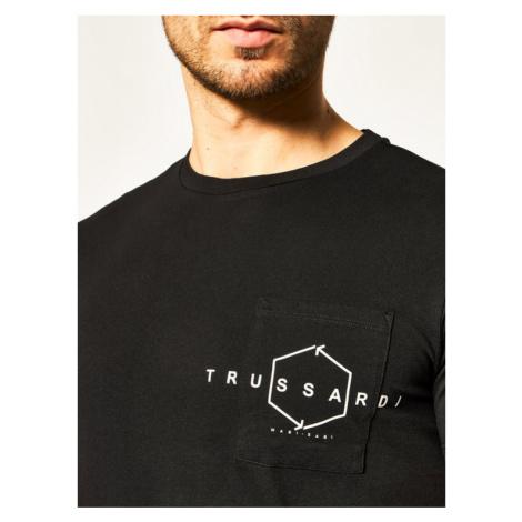 Trussardi Jeans T-Shirt 52T00313 Czarny Regular Fit