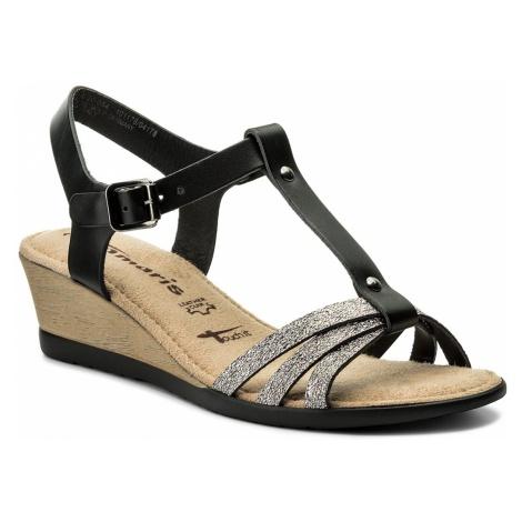 Sandały TAMARIS - 1-28218-20 Black Lea./Pew 054