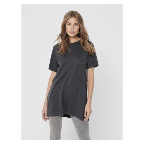 Ciemnoszara koszulka oversize Jacqueline de Yong Kris