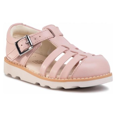 Sandały CLARKS - Crown Stem T 261405376 Pink Leather