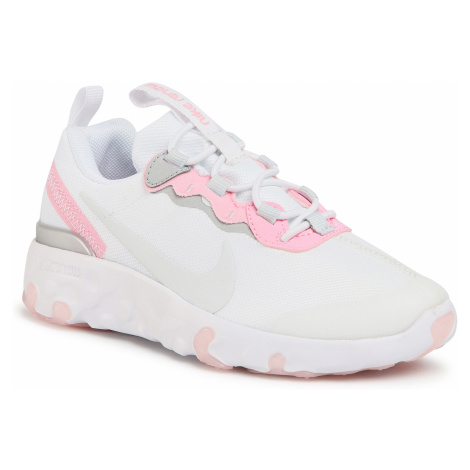 Buty NIKE - Renev Element 55 (PS) CK4082 102 White/Pure Platinum/Pink