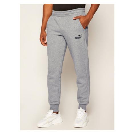 Puma Spodnie dresowe Ess Logo 851753 Szary Regular Fit