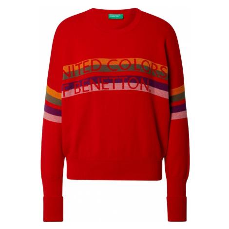 UNITED COLORS OF BENETTON Sweter czerwony / mieszane kolory