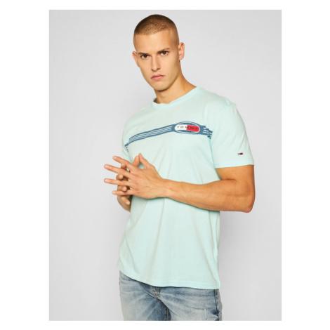 Tommy Jeans T-Shirt Chest Lines Logo DM0DM08299 Niebieski Regular Fit Tommy Hilfiger