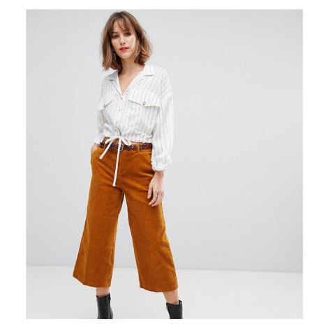 Esprit cord Culotte Trousers in mustard