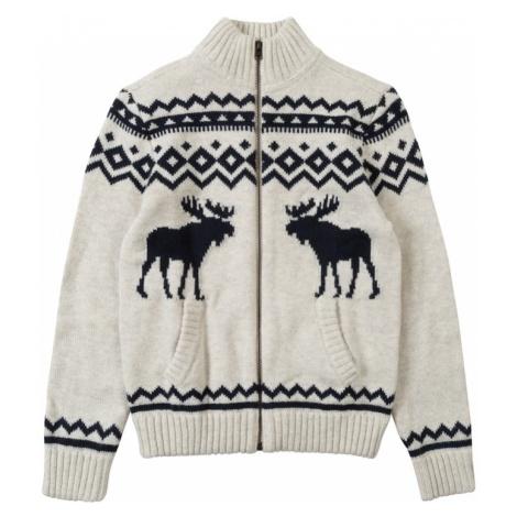 Abercrombie & Fitch Sweter 'XM18-INTARSIA MOCK' biały