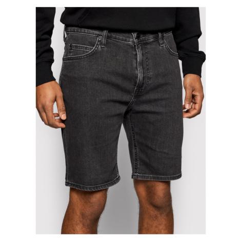 Lee Szorty jeansowe Rider L73FNPQH Czarny Slim Fit