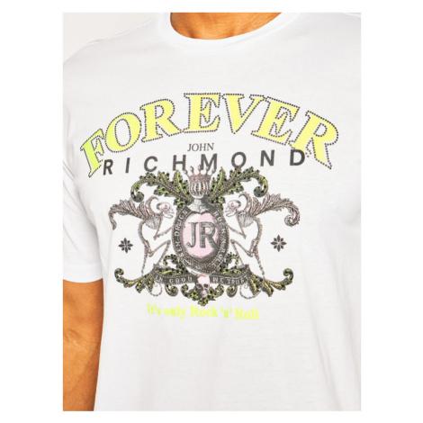 John Richmond T-Shirt Kerr RMP20076TS Biały Regular Fit
