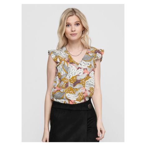 Brązowa bluzka w kwiaty TYLKO Beatrice Only