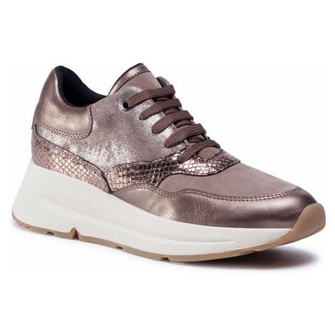 Sneakersy GEOX - D Backsie E D04FLE 0VIBN C5M9H Dk Beige/Lead