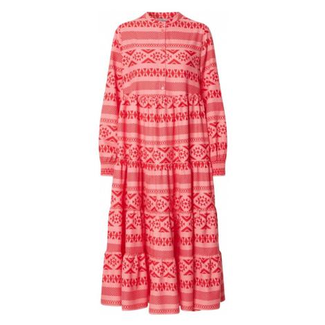 ONLY Sukienka koszulowa 'ONLLUCCA' różowy pudrowy / czerwony