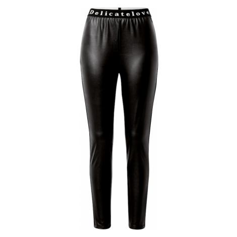 DELICATELOVE Spodnie 'Nelli' czarny / biały