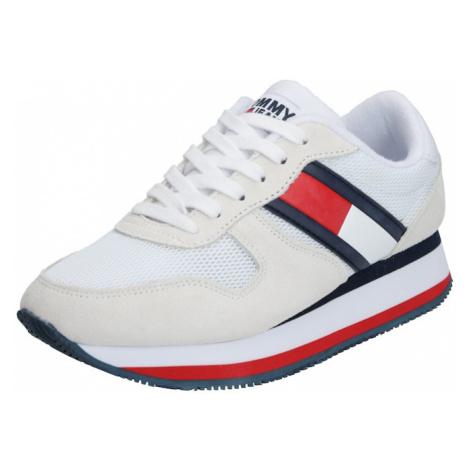 Tommy Jeans Japonki 'LAGOON 4C2' biały / niebieski / czerwony