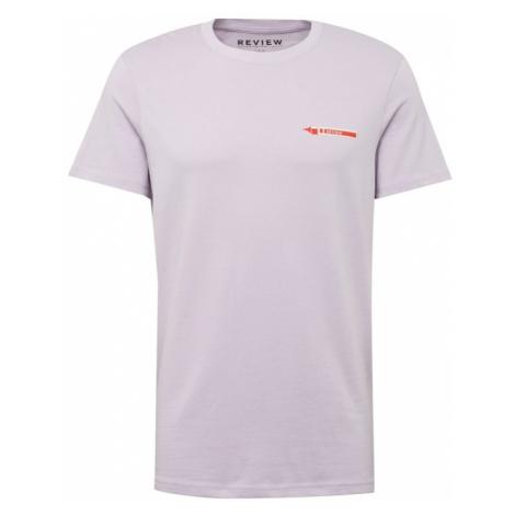 Review Koszulka 'Sign' ciemnoszary / liliowy / czerwony