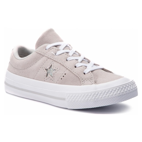 Tenisówki CONVERSE - One Star Ox 663589C Mouse/Mouse/White