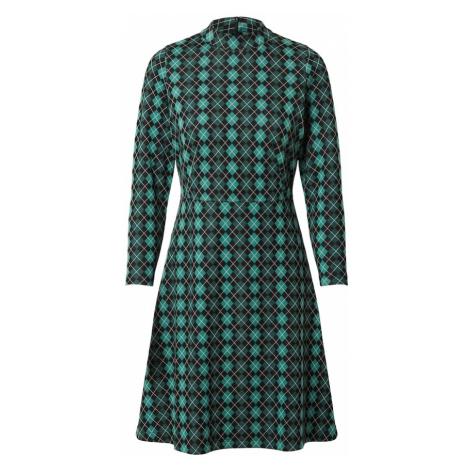 King Louie Sukienka 'Ada Aberdeen' czarny / ciemnozielony / pastelowy zielony