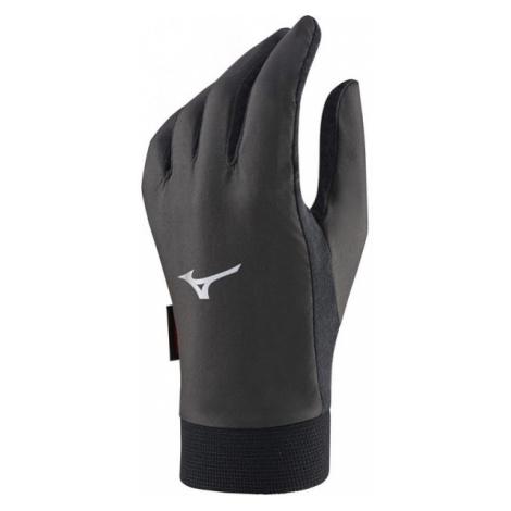Mizuno WIND GUARD GLOVE czarny M - Przeciwwiatrowe rękawice unisex