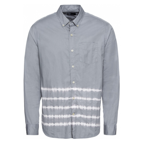 GAP Koszula 'DIP DYE POPLIN' szary / biały
