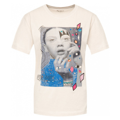 Pepe Jeans T-Shirt Marion PL504253 Beżowy Regular Fit