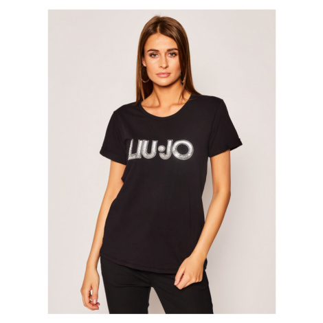 Liu Jo Sport T-Shirt TA0108 J5003 Czarny Regular Fit
