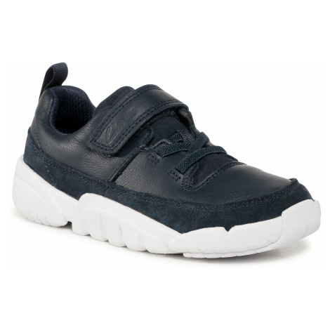 Sneakersy CLARKS - Tri Craft K 261535867 Navy Leather