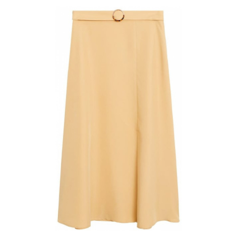 MANGO Spódnica 'Domenica' żółty