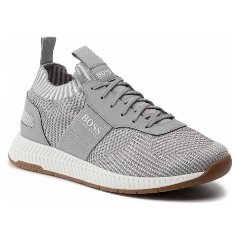 Sneakersy BOSS - Titanium 50408127 10216106 Light/Pastel Grey 050 Hugo Boss