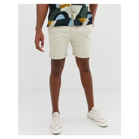 Bellfield chino shorts in stone