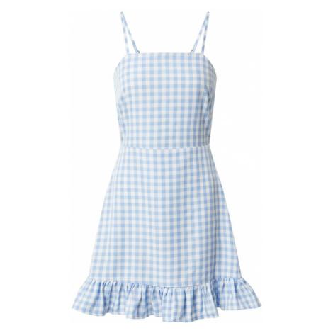 Missguided Letnia sukienka 'Cami' niebieski / biały
