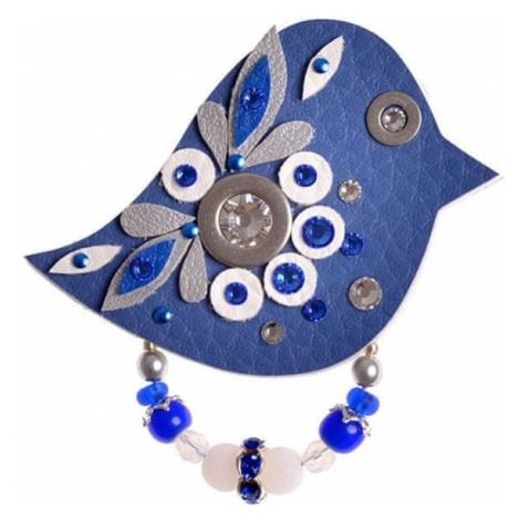 Petra Švarcová Blue Brooch Bird