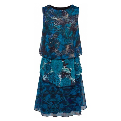Desigual Sukienka 'VEST_UNDERWATER' aqua / mieszane kolory