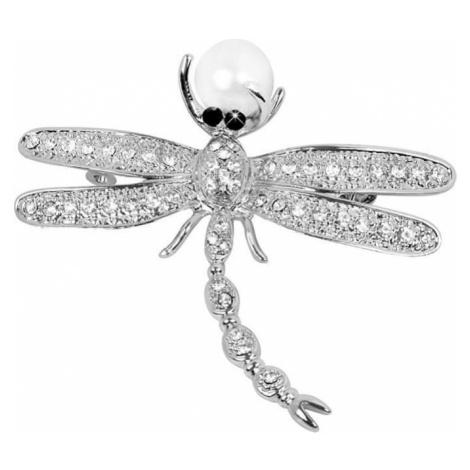 JwL Luxury Pearls Piękna broszka Dragonfly 2v1 z odpowiednią perłą JL0383