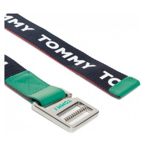 Tommy Hilfiger Pasek Dziecięcy Kids Webbing Belt AU0AU00990 Granatowy