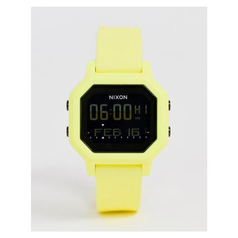 Nixon A1210 Siren silcone digital watch in citrus