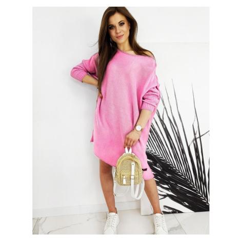 Damski sweter oversize NICOLA różowy MY0779 DStreet
