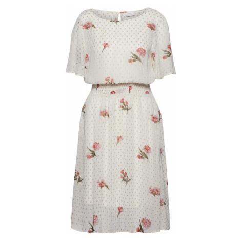 VILA Letnia sukienka 'LONDRA' złoty / ciemnozielony / różany / biały