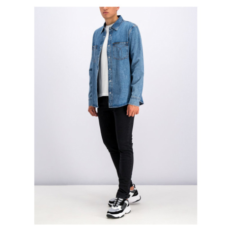 Calvin Klein Jeans Koszula Utility Omega J30J311937 Granatowy Regular Fit