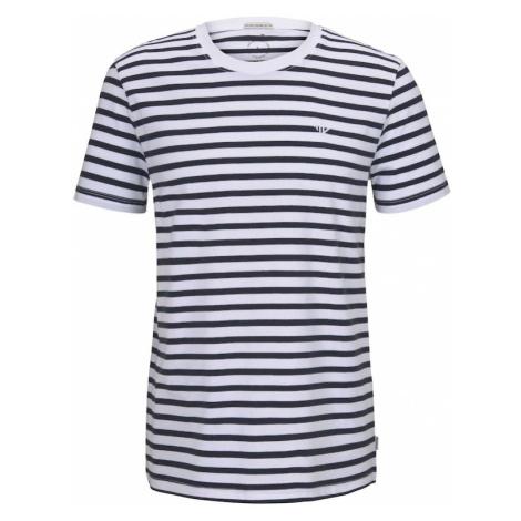 TOM TAILOR DENIM Koszulka biały / niebieska noc