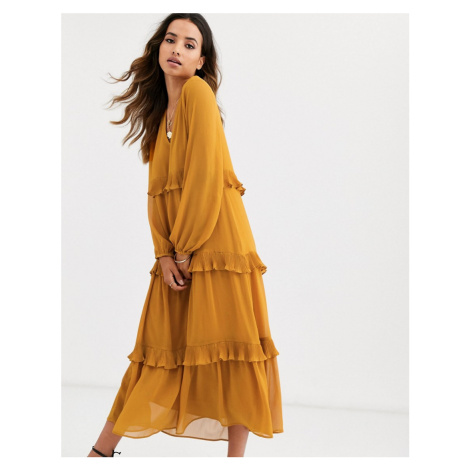 Y.A.S tiered frill maxi smock dress