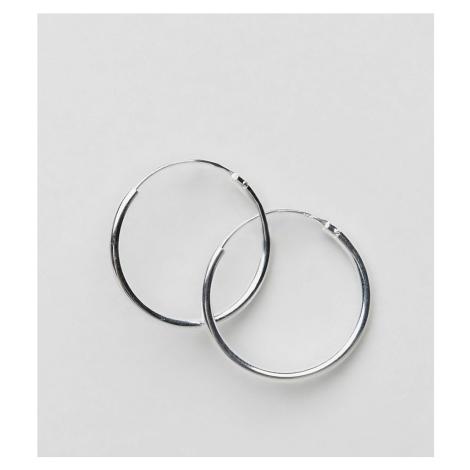 ASOS DESIGN sterling silver 20mm hoop earrings