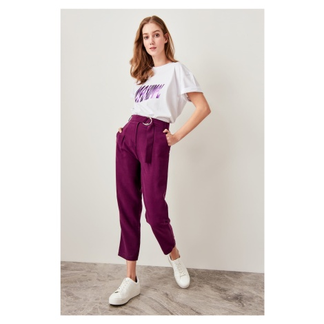 Trendyol Plum Arched Lyocell Pants