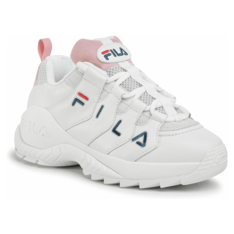 Sneakersy FILA - Countdown Low Wmn 1010751.92W White/Rosebloom