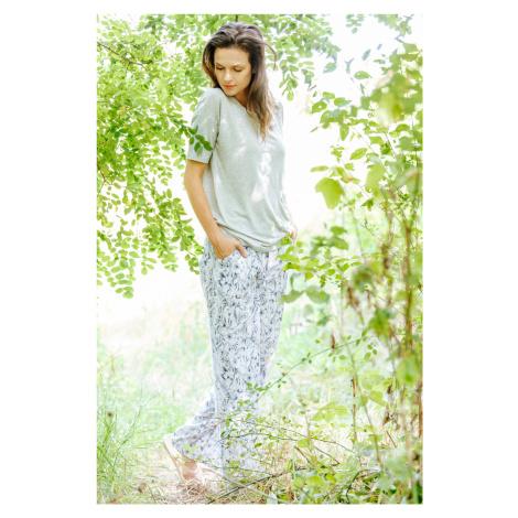 Piżama damska-  bluzka z rękawem 3/4 i spodnie Key