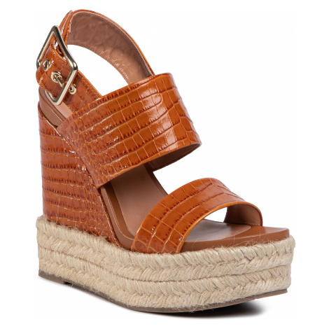 Espadryle TWINSET - Sandalo 201TCT016 Cocco Cuoi 04228