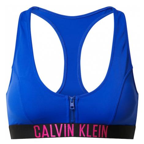 Calvin Klein Swimwear Góra bikini jasnoczerwony / niebieski