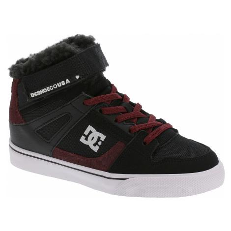 dziecięce buty DC Spartan High WNT EV - BR0/Black/Dark Red